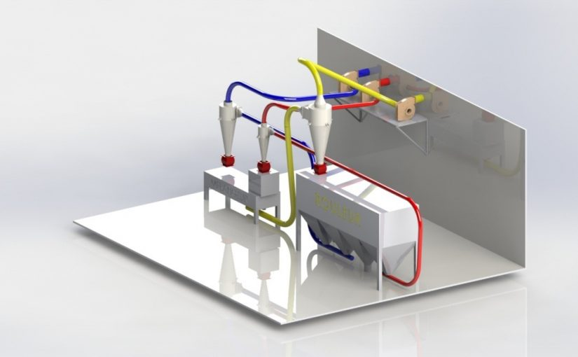 ligne de production couscous transport pneumatique